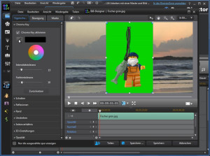 Chromakey in PowerDirector