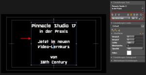 Pinnacle Studio 17 - Titel erstellen