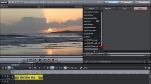 Vitascen V2 in MAGIX Video Deluxe