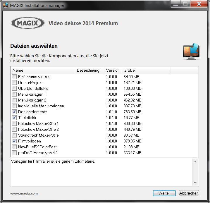 GRATIS Downloads von MAGIX Video deluxe 2014 laden - Film Bearbeitung