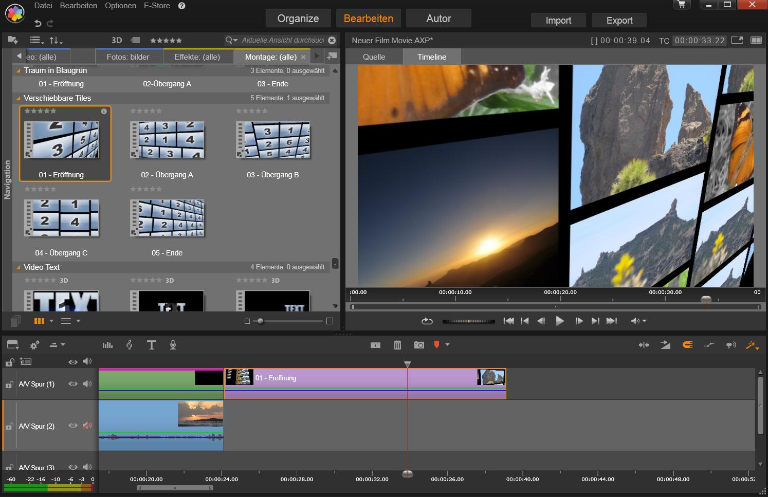 Animierte Videowand in Pinnacle Studio 17 - Film Bearbeitung