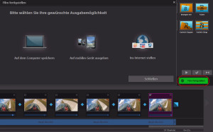 MAGIX FASTCUT - Export des Videos