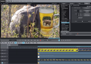 MAGIX 2016 - Video in Bierglasmaske integriert