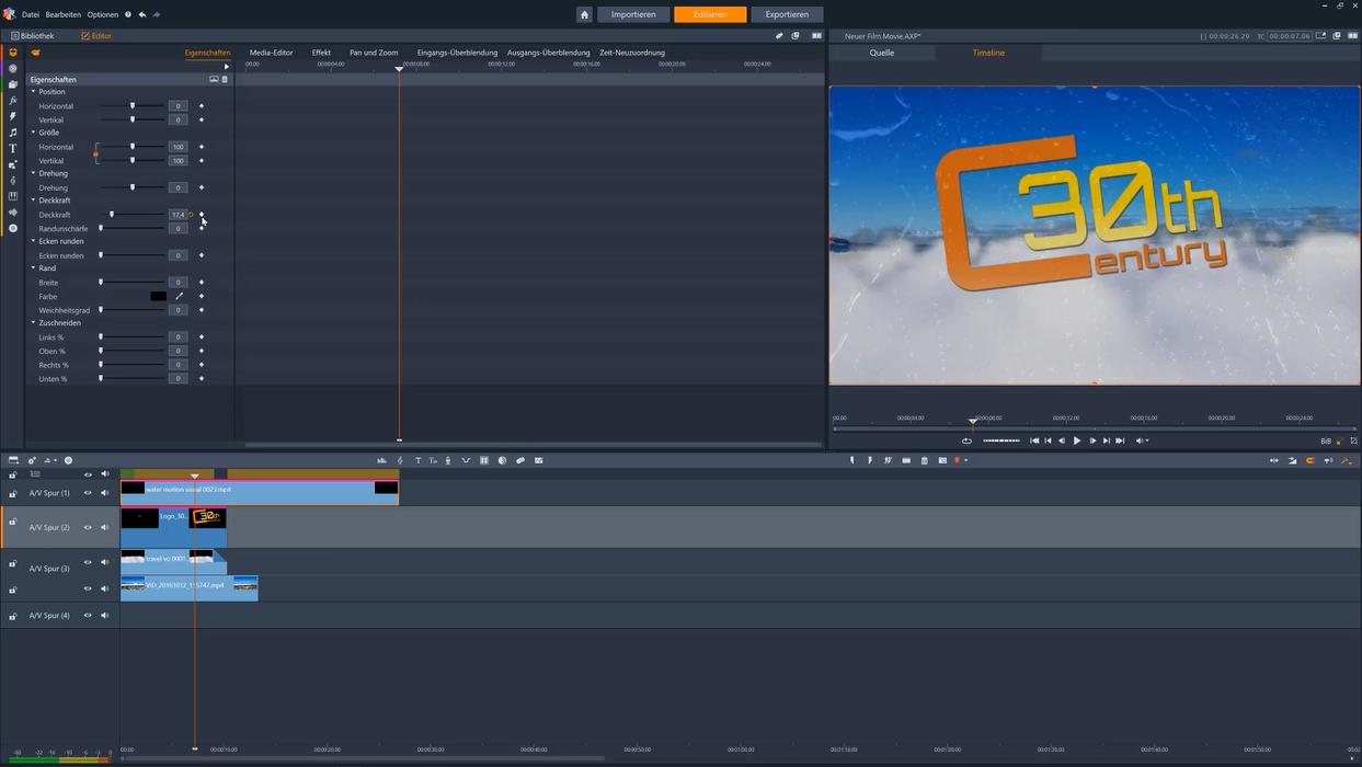 Eine Intro Animation erstellen mit Pinnacle Studio - Film Bearbeitung